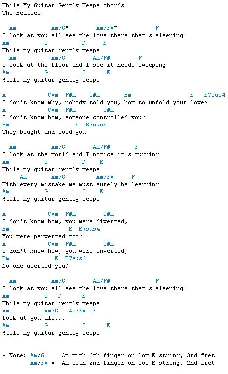 While my guitar gently weeps   Acousticplayer\'s Guitar Fretboard ...